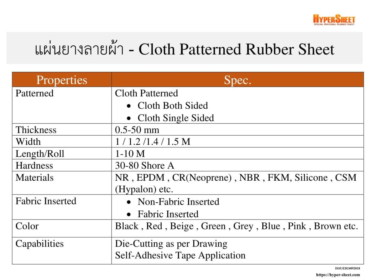 จำหน่ายและผลิตแผ่นยางลายผ้า.jpg